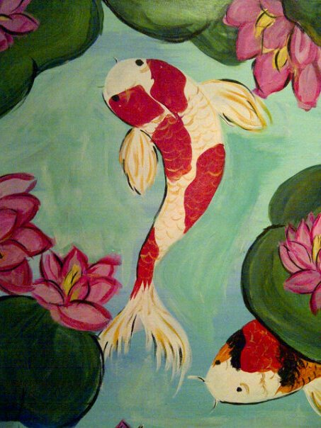 Bubbles n brushes paint gallery for Koi pond bubble